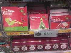 Christmas 3D Foam Craft Kits (4 designs) £1.49 each @ Home Bargains in-store