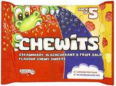 Chewits 5 pack 78p at Tesco / 56p at Morrisons (thanks to niall1234)