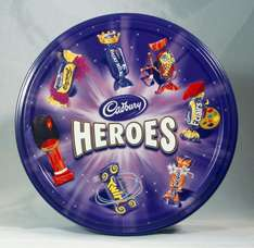 Cadbury's Heroes Tin 800g £3.99 down from £8.00 @ Sainsburys