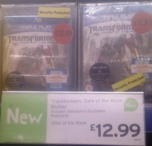 Transformer's Dark Of The Moon Triple Play Blu Ray  £12.99 @ Sainsburys