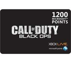 Xbox Live 1200 Microsoft Points@ currys for £8.99