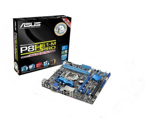 ASUS P8H61-M PRO REV 3.0 Intel H61 Motherboard - LGA1155 socket U3S6 - £47 @ PC World
