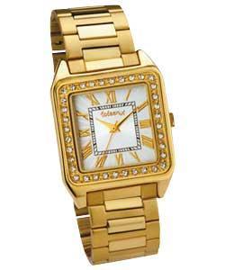 Coleen Ladies Gold Bracelet Stone Set Watch-only £9.99 delivered@argos ebay outlet
