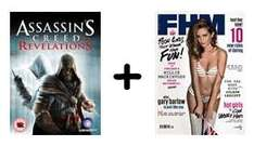 12 months of FHM plus Assassins Creed Revelations for £30 if paying by Direct Debit at greatmagazines