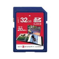 MyMemory 32GB SD Card (SDHC) - Class 10 - £20.97 FREE DELIVERY @ MyMemory