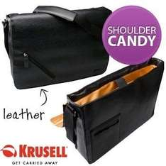 Krusell Stylish Luxury Leather Laptop Bag £ 14.36 @ dealtastic