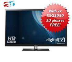SAMSUNG PS43D490 43 inch 3D Plasma TV HD Ready Freeview With 2 pairs of SSG3050 3D glasses, FREE - £379.95 @ Richer Sounds
