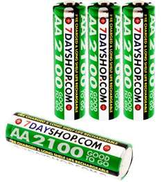 7dayshop Rechargeable Ni-Mh Batteries - AA Cell Size (2100 mAh)  £4.19