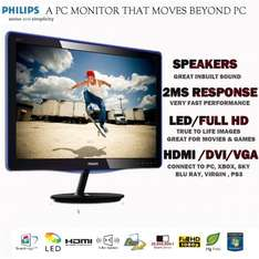 """Philips 21.5"""" led monitor, hdmi + speakers £99.99 Dabs outlet on ebay"""