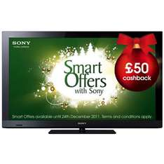 Sony 32'' KDL-32CX520 1080p LCD TV - £356.15 +£50 cashback at Marks & Spencers