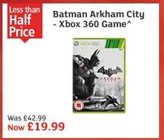 Batman Arkham City Xbox 360/PS3 £19.99 @ Argos 3rd Dec Only (store specific?)