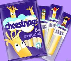 Cheestrings pack  of x6  for £0.75 (better than half price) at Morrisons