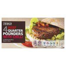 Tesco 4 Beef Quarter Pounders with Chilli - 88p (misprice?) instore only