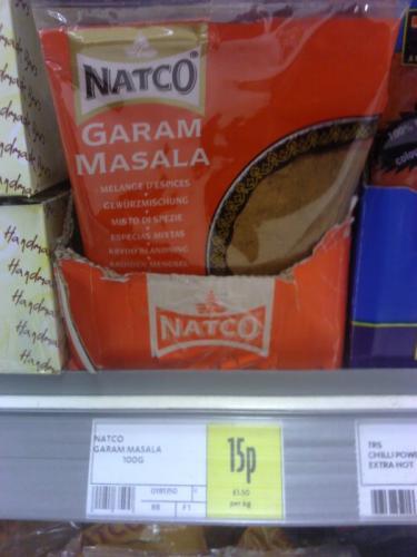 Natco's Garam Masala spice - 100g, 15p at Morrisons