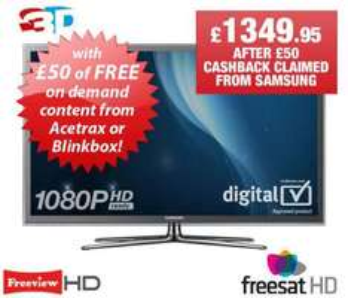 "Samsung 51""3D Smart TV,Full HD (think you get cash back to) - £1,399.95 @ Richer Sounds"