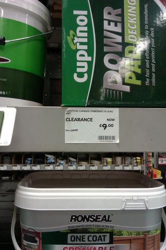 Cuprinol Powerpad Decking Unit B&Q in-store £9