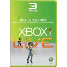 3 Months Xbox Live Gold Membership - £6.00 (for Silver Members) on Dashboard