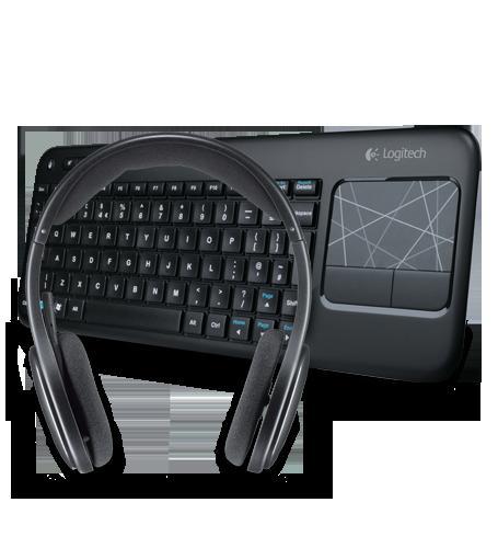 Logitech Wireless Touch Keyboard K400 & Wireless Headset H800 £48.74 @ Logitech.com