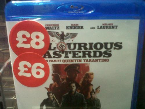 Inglorious Basterds Blu-Ray £6 @ Blockbuster (Instore)