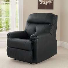 Black 'Chicago' Recliner Chair £149.00 at ASDA Direct (plus 9.95 delivery charge)