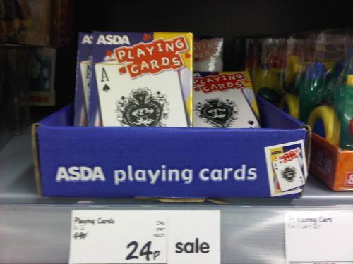Playing Cards at ASDA 24p!