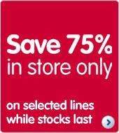 Boots 75% off sale 18th January 2012 *instore*