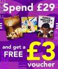Spend £29 get a free £3 voucher for CDWow
