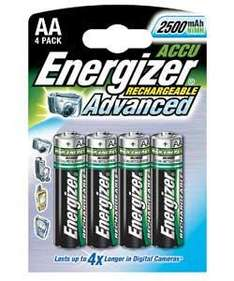 Energizer (4 pack) AA 2450 mAh Rechargeable Batteries Half price @ Argos £5.99 (£12.99)