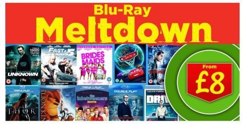 Blu Ray Films - £8.00 & £10.00 - Meltdown @ Asda (Online)