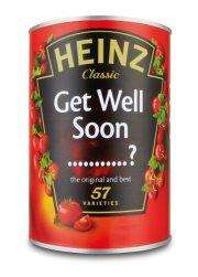 A Customised Can of 'Get Well' Soup from Heinz @ Facebook (Pay with Paypal) - £1.99 delivered to a friend