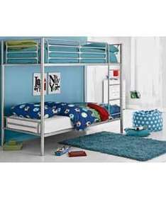 Metal Bunk Bed Frame - Silver or shorty (was £199.99) now £108.94 delivered @ argos