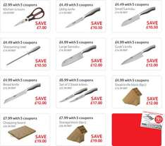 Professional Knives from £4.49 @ Tesco (with coupons)