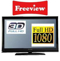 """TECHNIKA 3D LCD TV 42-8533D 42"""" FULL HD 1080P WITH FREEVIEW REFURBISHED WITH A 12 MONTH TESCO OUTLET WARRANTY - £369.00"""