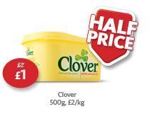 Clover 500g - Half Price - Just £1 @ Morrisons