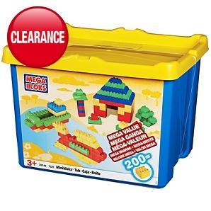 200 Piece Mega Bloks Tub £7.50 @ Asda Direct