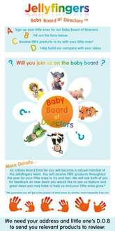 Free Baby Products to Test from Jellyfingers @ Facebook