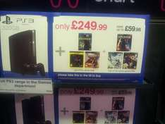 320GB PS3 with Uncharted 3, Gran Turismo 5 & Faster Blu Ray + Mass Effect 3 or SSX or Fifa Street for £249.99 @ HMV