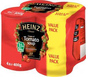 Heinz Soups (4x400g) £2.86 OR 2 FOR £3 @Asda