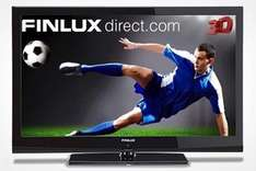 """Finlux 42"""" LED 3D 1080p Full HD TV With 8 Pairs of 3D Glasses for £379.99 (50% Off) via Groupon with Finlux"""