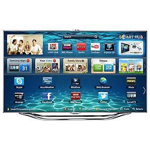 """Samsung UE55ES8000 LED HD 1080p 3D Smart TV, 55""""  Voice/Motion Control, John Lewis £2499"""