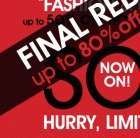Final reductions up to 80% off @ Littlewoods