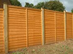 Wind blown your Fence Panels? Closeboard Panels 1.8 x1.83m B&Q 15% Off