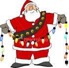 Sainsburys Christmas santa lights- 50p reduced from £12 instore