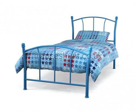 Penelope Metal Bed Frame (Blue / Pink / White) for £60.07 delivered (using code) @ Frances Hunt