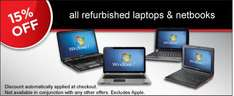 15% Discount added to  refurbished laptops purchased online, no code. @ Dixons