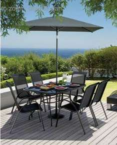 Homebase Andorra Garden Set - 6 chairs - large glass top table - large parasol for £139 price matched with argos and 10% off the diference and possibly free parasol base
