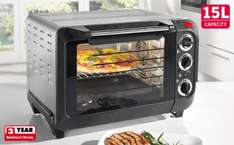 15 Litre Electric Oven with Grill @ Lidl - £29.99 (available instore from 21st June)