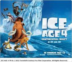 Sky Movies - free screening - ICE AGE 4 3D - 30th June