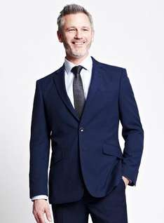 Navy Micro Suit from BHS down from £99 to £33.32 delivered