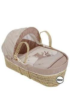 Ladybird Ginger and Crumble Moses Basket  £18.00 + £3.95 delivery @ Woolworths.co.uk BARGAIN!!